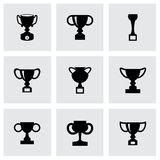 Vector trophy icon set Stock Photo