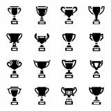 Vector Trophy icon set Royalty Free Stock Images
