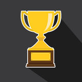 Vector of trophy with long shadow Royalty Free Stock Photo