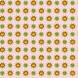 Vector tropical cute sun and frog character cartoon pattern vector illustration