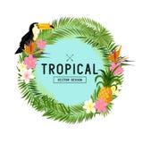 Vector tropical de la guirnalda Imagenes de archivo