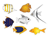 Vector tropical de los pescados Foto de archivo