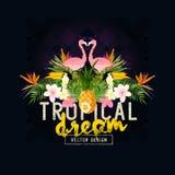 Vector tropical del verano Imágenes de archivo libres de regalías