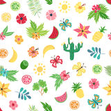 Vector tropical floral seamless pattern vector illustration