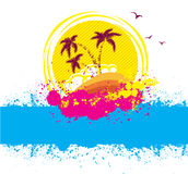 Vector tropical island.Abstract image Stock Photos