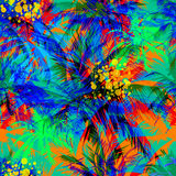 Vector tropical pattern Stock Photography