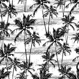 Vector tropical pattern royalty free illustration