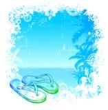Vector tropische achtergrond Stock Foto's