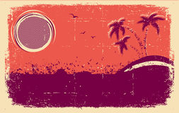 Vector tropischen Hintergrund. Entziehen Sie grunge lizenzfreie abbildung