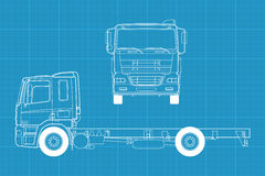Vector truck Royalty Free Stock Photography