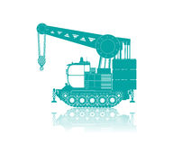 Vector truck crane. Pictogram against white background Stock Photos