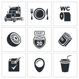 Vector Truck Icon Set Royalty Free Stock Photo