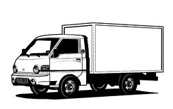 Vector truck outline template isolated on white Royalty Free Stock Photos