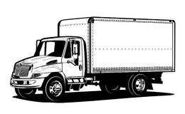 Vector truck outline template  on white Stock Photo