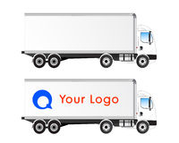 Vector truck profile isolated blank royalty free stock image
