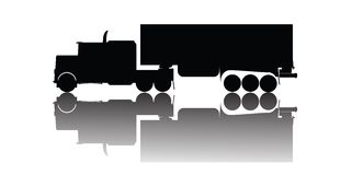 Vector truck silhouette Stock Photos
