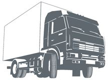Vector truck silhouette Royalty Free Stock Images