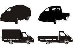 Vector truck silhouette set Royalty Free Stock Photography