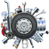 Vector Truck Spares Concept Royalty Free Stock Image