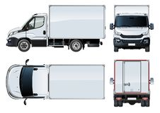 Vector truck template isolated on white Royalty Free Stock Photos
