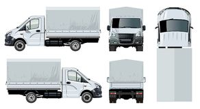 Vector truck template isolated on white Stock Photography