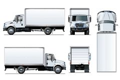Vector truck template isolated on white. Available EPS-10 separated by groups and layers with transparency effects for one-click repaint and clipping mask for Stock Photos