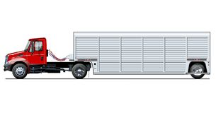 Vector truck template isolated on white Royalty Free Stock Photography