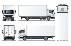 Vector truck template isolated on white background Vector Illustration