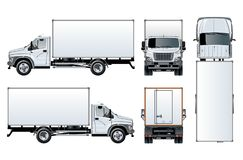Vector truck template isolated on white Royalty Free Stock Image