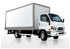 Vector truck template  on white Royalty Free Stock Photo