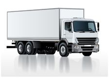 Vector truck template  on white Royalty Free Stock Photography