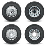 Vector truck tire icons Stock Photos