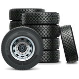 Vector Truck Tires Stock Photography