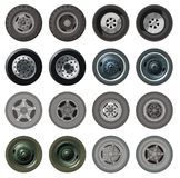 Vector truck wheels set Royalty Free Stock Photos