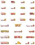 Vector trucks icons Stock Photos