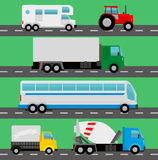 Vector trucks. Vector illutration background Stock Photography