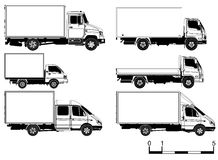 Vector trucks set stock photos