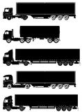 Vector trucks set Royalty Free Stock Images
