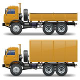 Vector trucks set 1 Royalty Free Stock Photography
