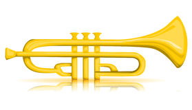 Vector trumpet Stock Images