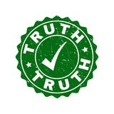Truth Scratched Stamp with Tick stock illustration