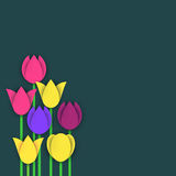 Vector tulips in material design Royalty Free Stock Images