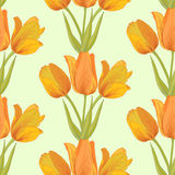 Vector tulips sealess background. Vector pastel seamless background with tulips flowers Royalty Free Stock Photography