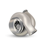 Vector turbocharger illustration. Isolated on white Royalty Free Stock Images