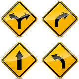 Vector turn signs Royalty Free Stock Images