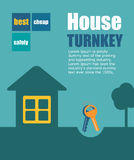 Vector turnkey illustration. Vector icon key. house turnkey. turnkey illustration. House turnkey Flat design style royalty free illustration