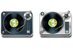 Vector turntable XXL icon Royalty Free Stock Photography