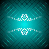 Vector turquoise luxury background Royalty Free Stock Photography