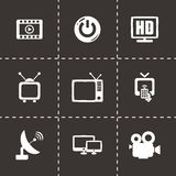 Vector tv icon set Stock Photo
