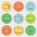 Vector TV Icons Stock Photos